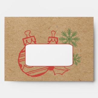 Fun Cardboard Christmas A7 Envelopes