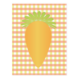 Fun Carrot and Gingham Postcards