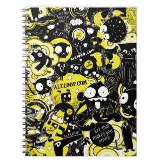 Fun Cartoon Art Notebook