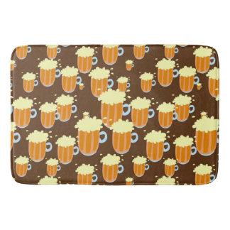 Fun Cartoon Beer or Root Beer Mug Design Bathroom Mat
