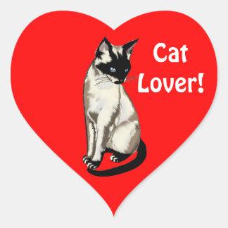 Fun Cartoon Cat Designs for Kitty-lovers! Heart Sticker