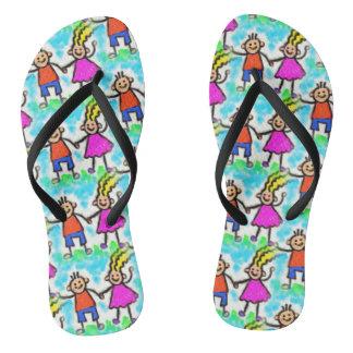 Fun Cartoon Children Design Flip Flops