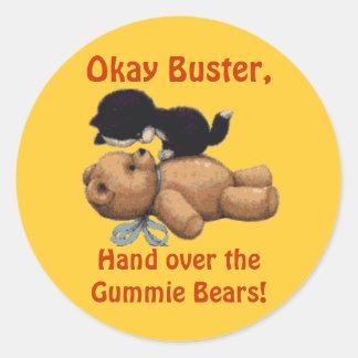 Fun Cartoon Designs for fun-loving folks! Round Sticker