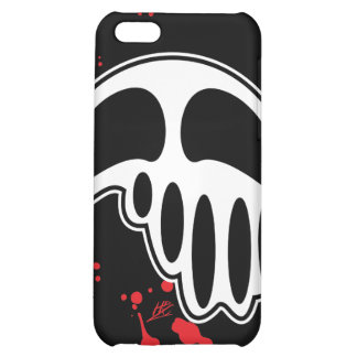 Fun Cartoon Melting Skull with Blood Splatters iPhone 5C Covers