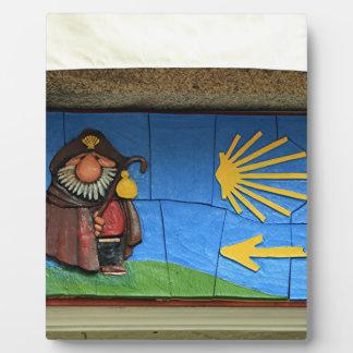 Fun cartoon of St James, Santiago El Camino Plaque