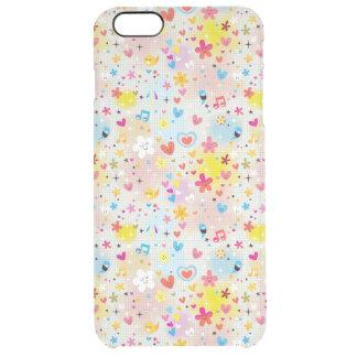 fun cartoon pattern clear iPhone 6 plus case