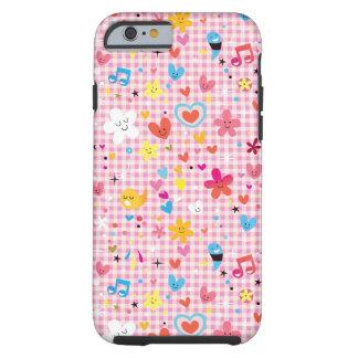 fun cartoon pattern pink iPhone 6 case