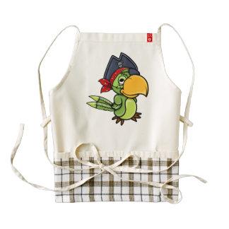 Fun Cartoon Pirate Parrot Zazzle HEART Apron