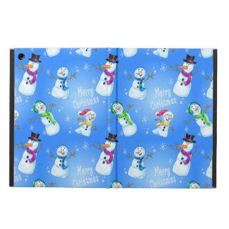 Fun cartoon snowman family iPad Air Case