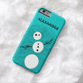Fun Cartoon Snowman Winter Christmas Holiday Barely There iPhone 6 Case