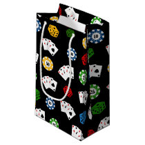 Fun casino gambling pattern party bag