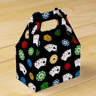 Fun Casino pattern party favor box