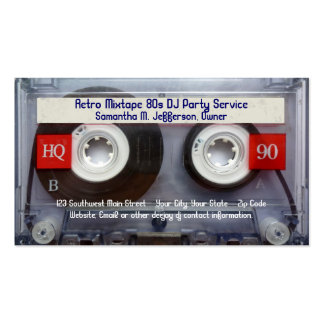 Fun Cassette Tape Double-Sided Standard Business Cards (Pack Of 100)