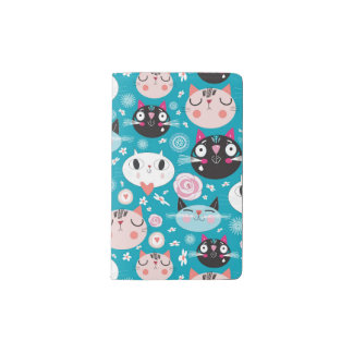 Fun Cat Faces Pocket Moleskine Notebook