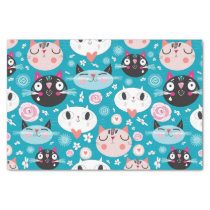 Fun Cat Faces Tissue Paper
