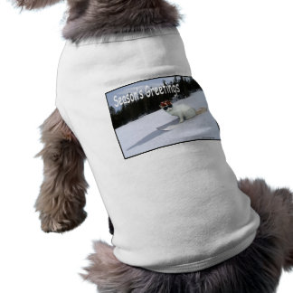 Fun Cat on a Snowboard Pet Sweater Shirt