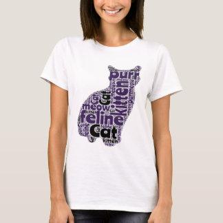 Fun Cat Picture Word Art Design T-Shirt