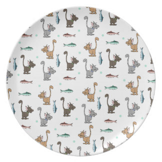 Fun Cats and Fish Plate