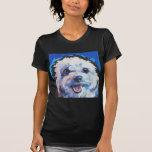 Fun Cavachon Dog bright colorful Pop Art painting T-Shirt