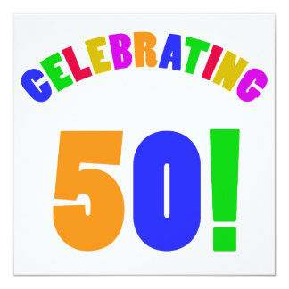 Fun Celebrating 50 Birthday Gifts Card
