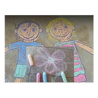 Fun Chalk Drawings Card