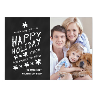 FUN CHALKBOARD HAPPY HOLIDAY PHOTO CARD