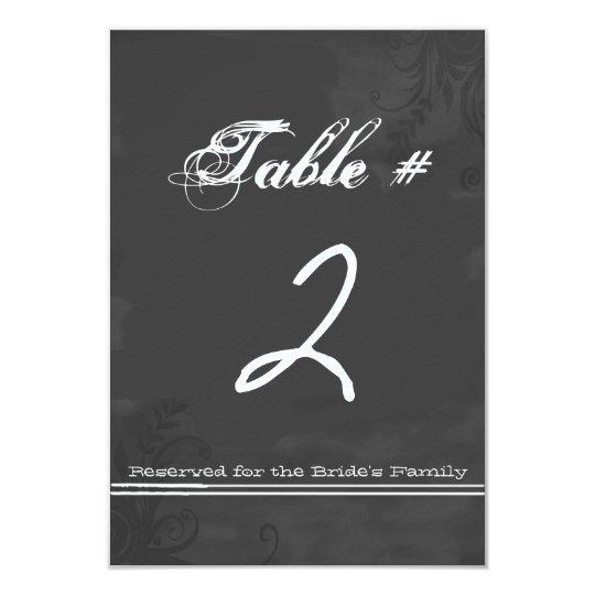Fun Chalkboard Look Wedding Table Number Card