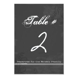 "Fun Chalkboard Look Wedding Table Number Card 3.5"" X 5"" Invitation Card"