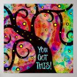 Fun Cheerful Colorful Tree Classroom Poster