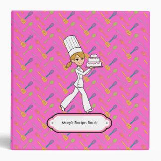 Fun Chef Themed Recipe Binder