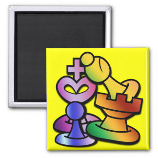 Fun Chess 2 Inch Square Magnet
