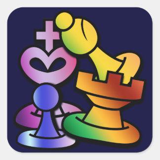 Fun Chess Square Sticker