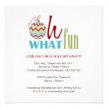 Fun Chevron Christmas Party Invitation