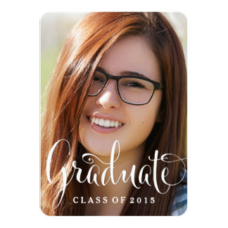 Fun Chic Modern Graduation Announcement Invitation