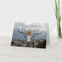 Fun Chicken and Rudolph Christmas Greeting Card! Holiday Card