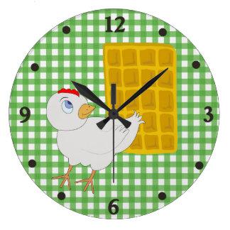 Fun Chicken and Waffle Kitchen Wall Clock