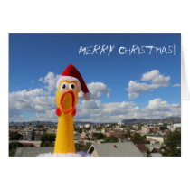 Fun Chicken Christmas Greeting Card! Card