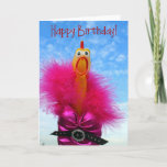 Fun Chicken Happy Birthday Greeting Card! Card