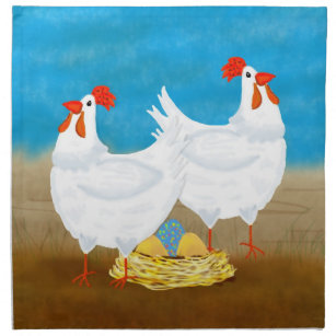 Fun Chicken Napkin Great For Kitchen And Or Easter