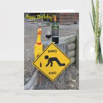 Fun Chicken Wino Xing Birthday Card! Card