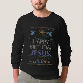 Fun Christian Ugly Christmas Sweater Color Jesus