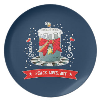 Fun Christmas Candle Design Christmas Gift Plates