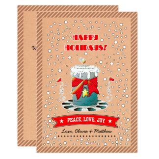 Fun Christmas Candle Design Flat Christmas Cards