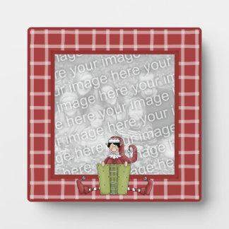 Fun Christmas Elf Photo Frame Style Plaques
