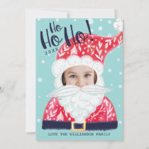 Fun Christmas Holiday Jolly Santa Claus Photo Card