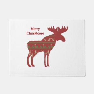 Fun Christmas Moose in Sweater Design Chrismoose h Doormat