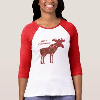 Fun Christmas Moose in Sweater Design Chrismoose T-shirt