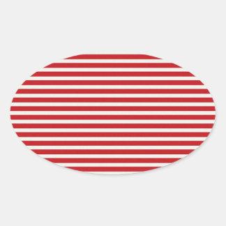 Fun Christmas Nautical Red White Stripes Pattern Sticker