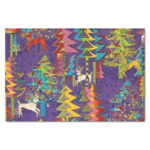 "Fun Christmas pattern tissue paper 10"" X 15"" Tissue Paper"