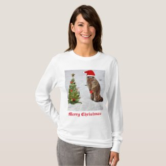 Fun Christmas Raccoon T-Shirt